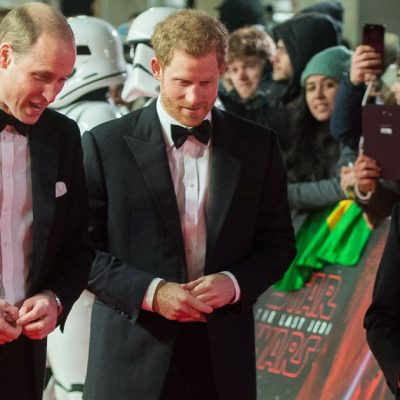 Prince Harry and Prince William met BB-8 at the London <em>Star Wars</em>premiere