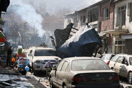 Taliban attacker driving ambulance packed with explosives kills 95 in Kabul