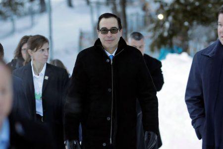 In Davos, Mnuchin dismisses concerns over Trump's economic agenda