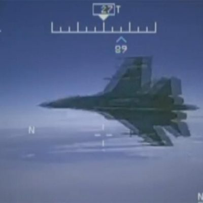 US releases raw video of Russian fighter jet buzzing Navy plane in international airspace
