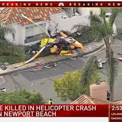 A Helicopter Has Crashed Into a California Home, Killing Three People