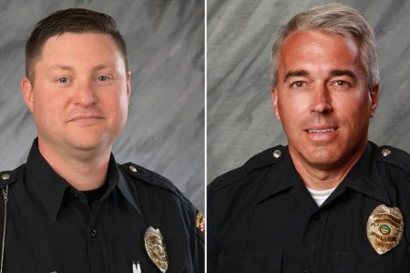 A solemn procession, then vigils mark the deaths of Ohio officers