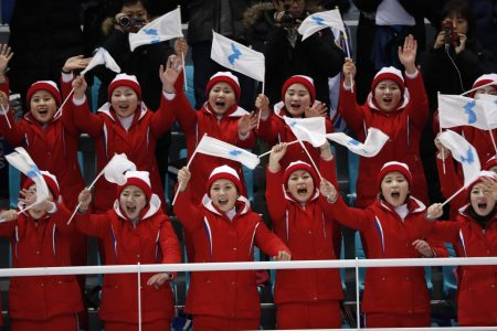North Korea sent cheerleaders to the Olympics. Here's what they're saying.