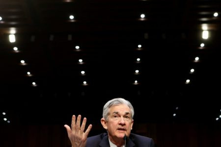 Fed Chair Powell Touts Economy, Continuity in Public Debut