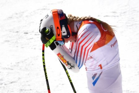As Lindsey Vonn falls short in super-G, snowboarder surprises with gold in second sport
