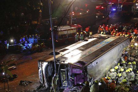 Hong Kong double-decker bus crash kills 18