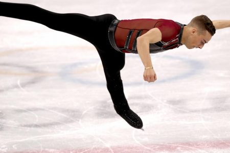 Winter Games 2018: Team USA's Adam Rippon competes in men's figure skating