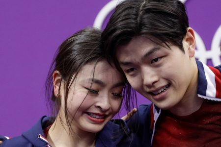 Ice dancing is sensual. The Shibutanis try to portray passion of a different kind.