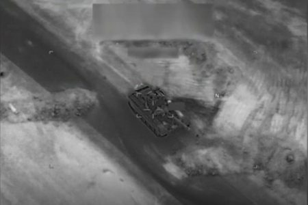 US Military Bombs Russian Tank in Video From Syria Attack on Assad Supporters