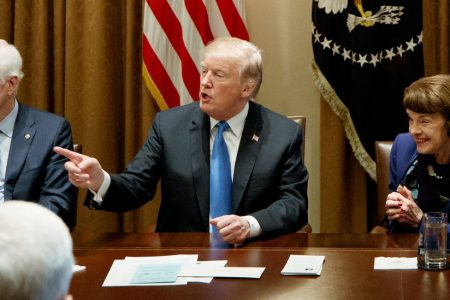 Trump Stuns Lawmakers With Seeming Embrace of Gun Control