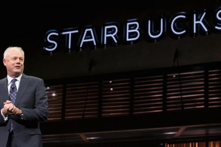 One year into Starbucks' top job, CEO Kevin Johnson still has a lot to prove