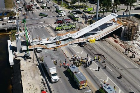 Florida Bridge Collapse: 'There Are Bodies Down There and We Can't Get to Them'