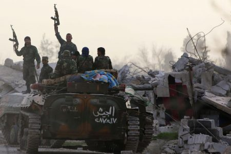 Syrian regime gains ground in 'semi-destroyed rubble town'
