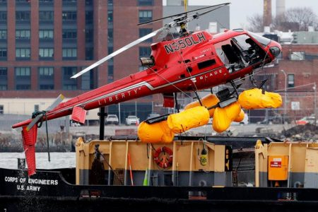 Five people die in NYC helicopter crash, but the pilot survives