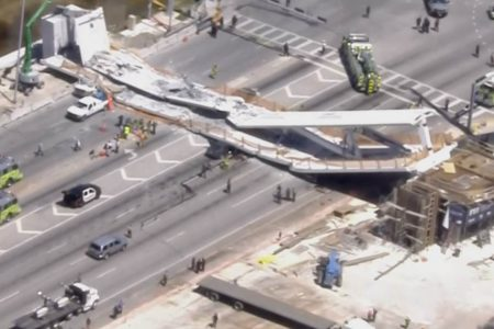 Miami pedestrian bridge collapses killing several, police say