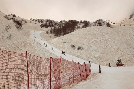 Orange snow blankets parts of Russia
