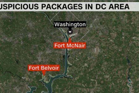 Multiple suspicious packages sent to DC area military installations