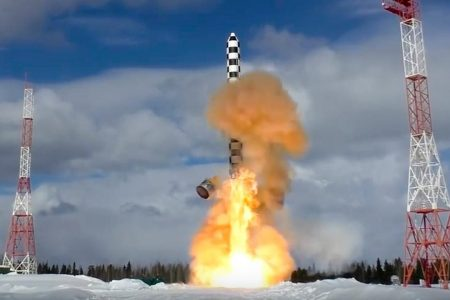 'Satan 2' nuclear missile again test-launched by Russia, as Putin brags of 'invulnerable' arsenal