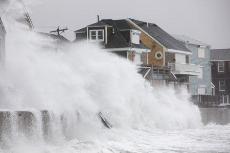 Nor'easter forecast to topple flood record in Boston as winds push 80 mph