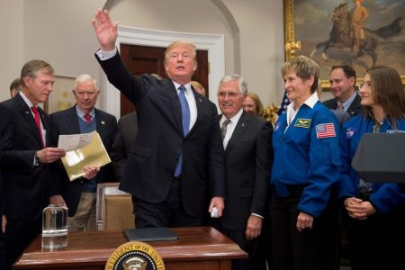 Trump floats idea of 'space force'