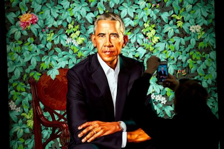 Inspired by the Obama portrait's living wall? Not so fast.
