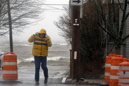 Nor'easter slams East Coast with violent winds, heavy rain; scores lose power