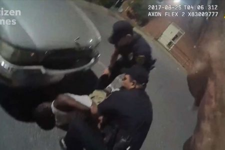 Ex-officer charged with assault in beating and Tasering of alleged jaywalker