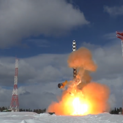 Watch: Russia Launches 'Satan 2' Missile As Moscow Denies Trump Told Putin US Would 'Win' Arms Race