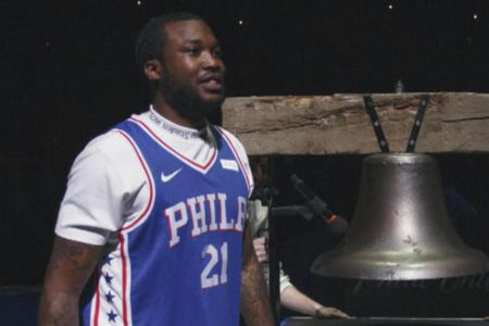 Meek Mill released from prison, attends 76ers game