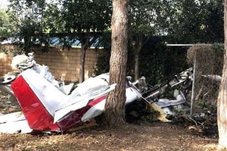 Two dead after home-built plane crashes in California