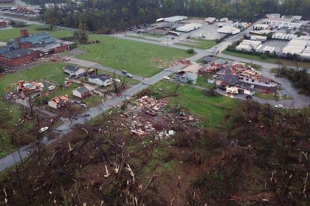 One dead in Greensboro tornado as spring storm system heads east
