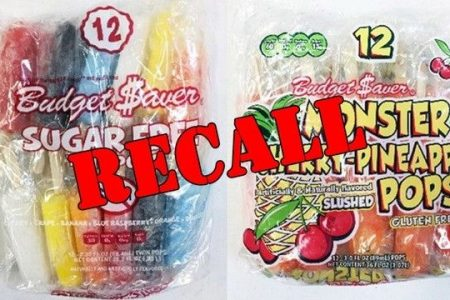 Ice pops recalled over possible listeria contamination