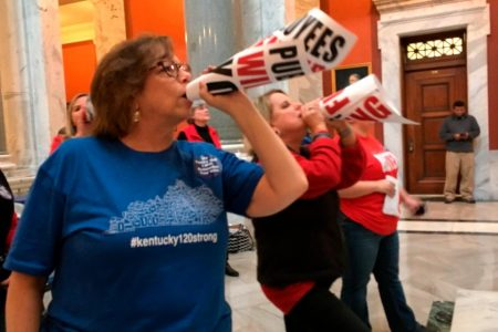 Oklahoma and Kentucky teachers are walking out en masse. Here's what they want