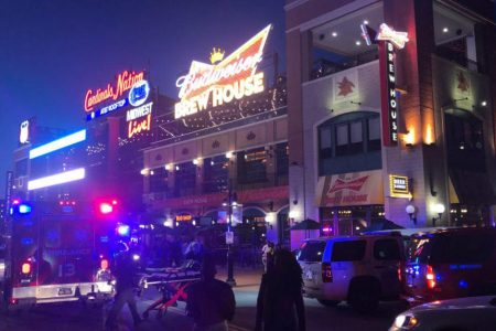 2 wounded in shooting at Ballpark Village in St. Louis, Missouri