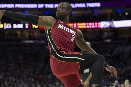 Throwing it Back, Miami's Dwyane Wade Takes the 76ers to School