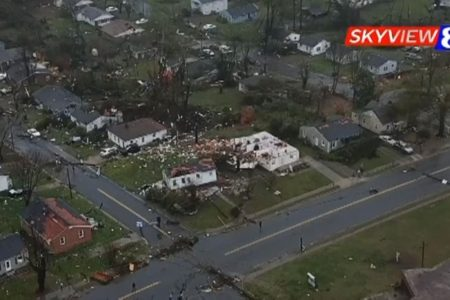 Tornado sideswipes a North Carolina TV station just as it goes on the air