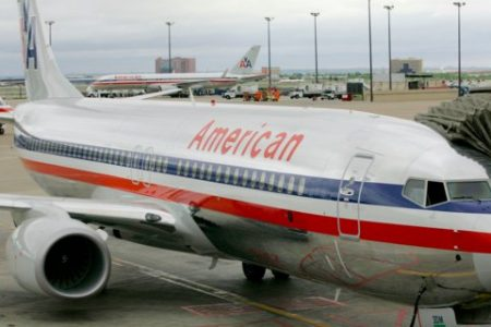 A man was tasered on an American Airlines flight after allegedly touching a female passenger inappropriately