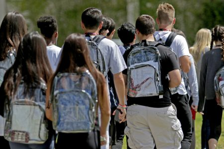 Parkland Students Protest Clear Backpacks With Tampons And $1.05 Price Tags