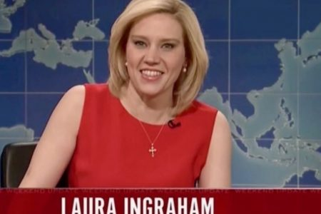 Kate McKinnon Kills As Laura Ingraham On 'Saturday Night Live'