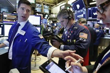 Stocks plunge as trade, tech worries drag prices down; Dow drops more than 450 points