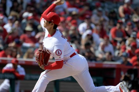 Shohei Ohtani loses perfect game in seventh inning, has 11 strikeouts in Angels home debut