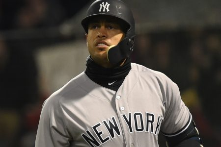 Giancarlo Stanton forced to face the music in Yankees' blowout loss to Red Sox