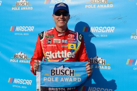 Brothers Kyle, Kurt Busch will start on front row at NASCAR Bristol race