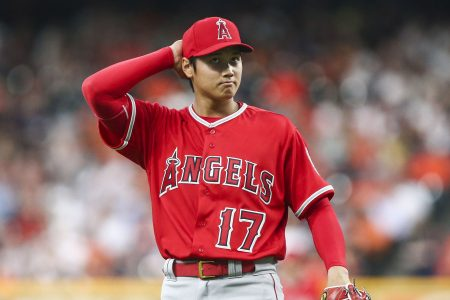 Shohei Ohtani strikes out seven, but Astros make him work, wear him down