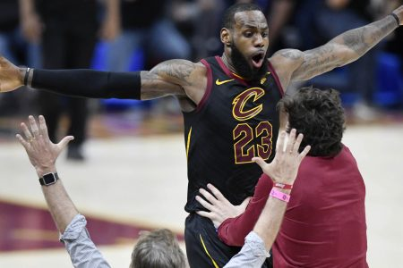 LeBron James on buzzer-beater to beat Pacers: 'It felt like I was a kid all over again'