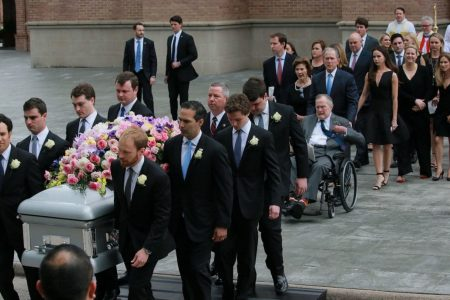 'The first lady of the greatest generation': Barbara Bush honored for her humor and warmth at funeral in Houston