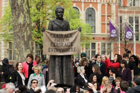 Britain unveils first statue of a woman in Parliament Square