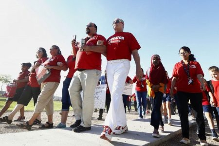 First, it was West Virginia. Then, Kentucky and Oklahoma. Now, Arizona and Colorado teachers prepare to walk out.