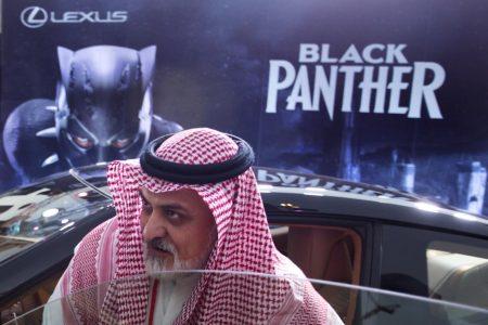 Saudi Arabia screens 'Black Panther' to mark cinema opening