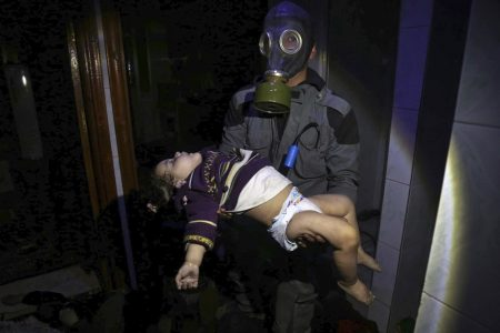 The Latest: EU blames Syrian government for chemical attack